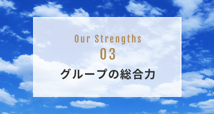 OUR STRENGTH 03 グループの総合力